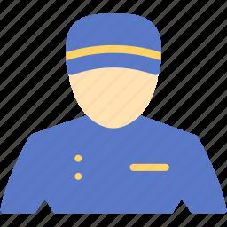 bellboy, concierge, desk, doorman, hotel, reception, service icon