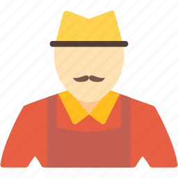 farm, farmer, man, village, work, worker icon