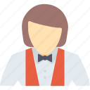 female, girl, hotel, lady, service, waiter, woman icon