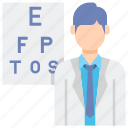 male, optometrist, professions icon