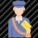 mail, postman, professions icon