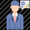 consultant, male, professions icon