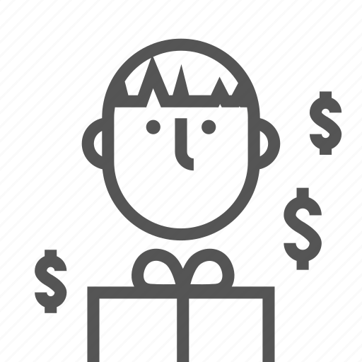 cash, cashier, counting, job, man, money, working icon
