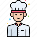 chef, cooking, male, professions icon