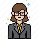 consultant, female, professions icon
