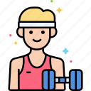 fitness, male, trainer icon