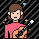 female, musician, professions icon