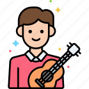 male, musician, professions icon