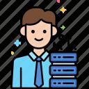 network, specialist, male icon