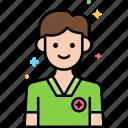 male, nurse, professions icon