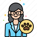 animal, female, professions, veterinarian icon