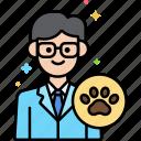 animal, male, professions, veterinarian icon