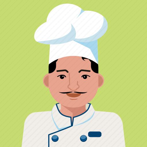 avatar, chef, man, person, profile, user icon