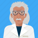 academic, avatar, man, person, scientist, user icon