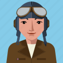 avatar, aviator, flying, man, person, user icon