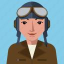 avatar, aviator, flying, man, person, user icon