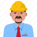 architect, avatar, engineer, man, person, user icon