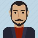 man, profile, rector, user, avatar, person