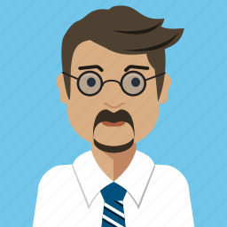 avatar, businessman, man, person, reporter, user icon