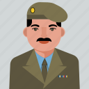 avatar, man, military, person, user icon