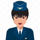 avatar, female, person, profile, stewardesses, user icon