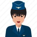stewardesses, user, avatar, female, person, profile