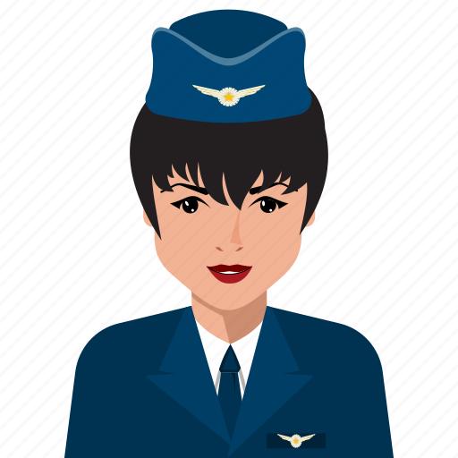 avatar, female, person, profile, stewardesses, user icon
