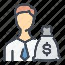 profile, user, account, money, bag, banking, finance