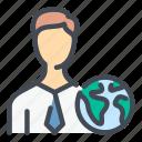 people, profile, user, account, globe, world, network