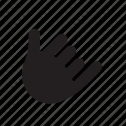 call, call me, hand, pinky, thumb icon