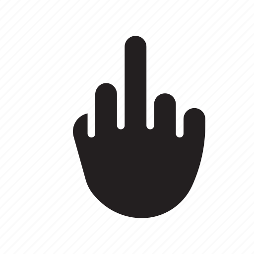 finger, fuck off, middle, middle finger, rude, rude gesture, up yours icon
