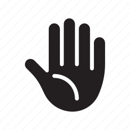 five, hand, high five, palm, stop icon