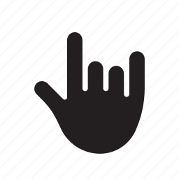 fan, hand, metal, music, rock, rock icon, rock sign icon