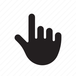 finger, hand, index, pointer, tap, tap gesture, two icon