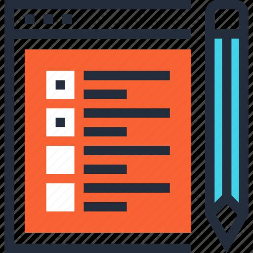 checklist, evaluation, site, test, testing, usability, web icon