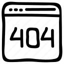 error, internet, online, webpage, window icon
