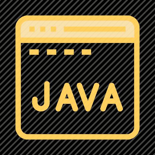 coding, internet, java, programming, scripting icon