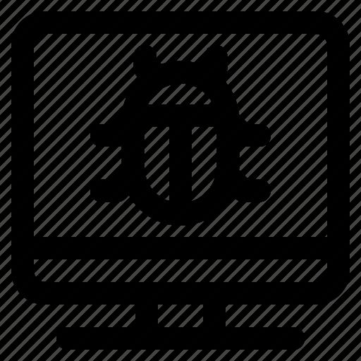 bug, error, problem, programing icon