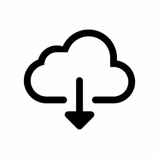 cloud, clouds, down, download, file, upload icon