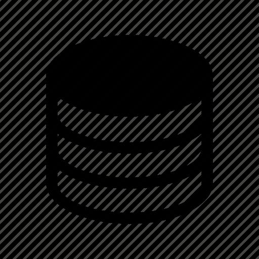 core, database, drive, hard, memory, repository, server icon