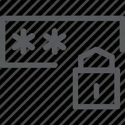 blocked, box, coding, lock, login, padlock, private, programming icon