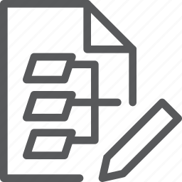 algorithm, chart, chip, code, edit, flow, flowchart, programming icon