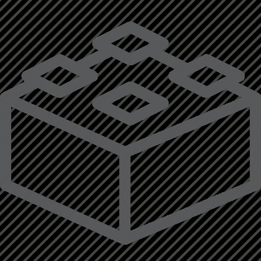 coding, cube, lego, modules, programming, stack, storage icon
