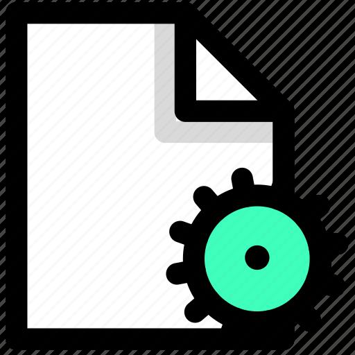 configuration, configuration document, configuration file icon