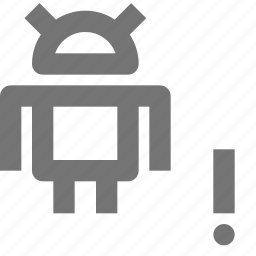alert, android, error, exclamation icon