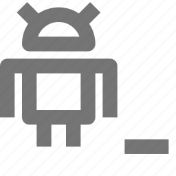 android, code, language, minimize, minus, programming, remove, robot icon