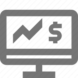 dollar, graph, money, programming icon