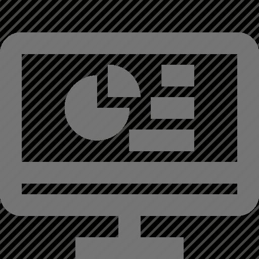 graph, pie chart, programming icon