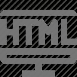 html, programming icon
