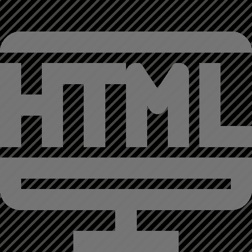 code, development, html, imac, language, monitor, programming, robot icon